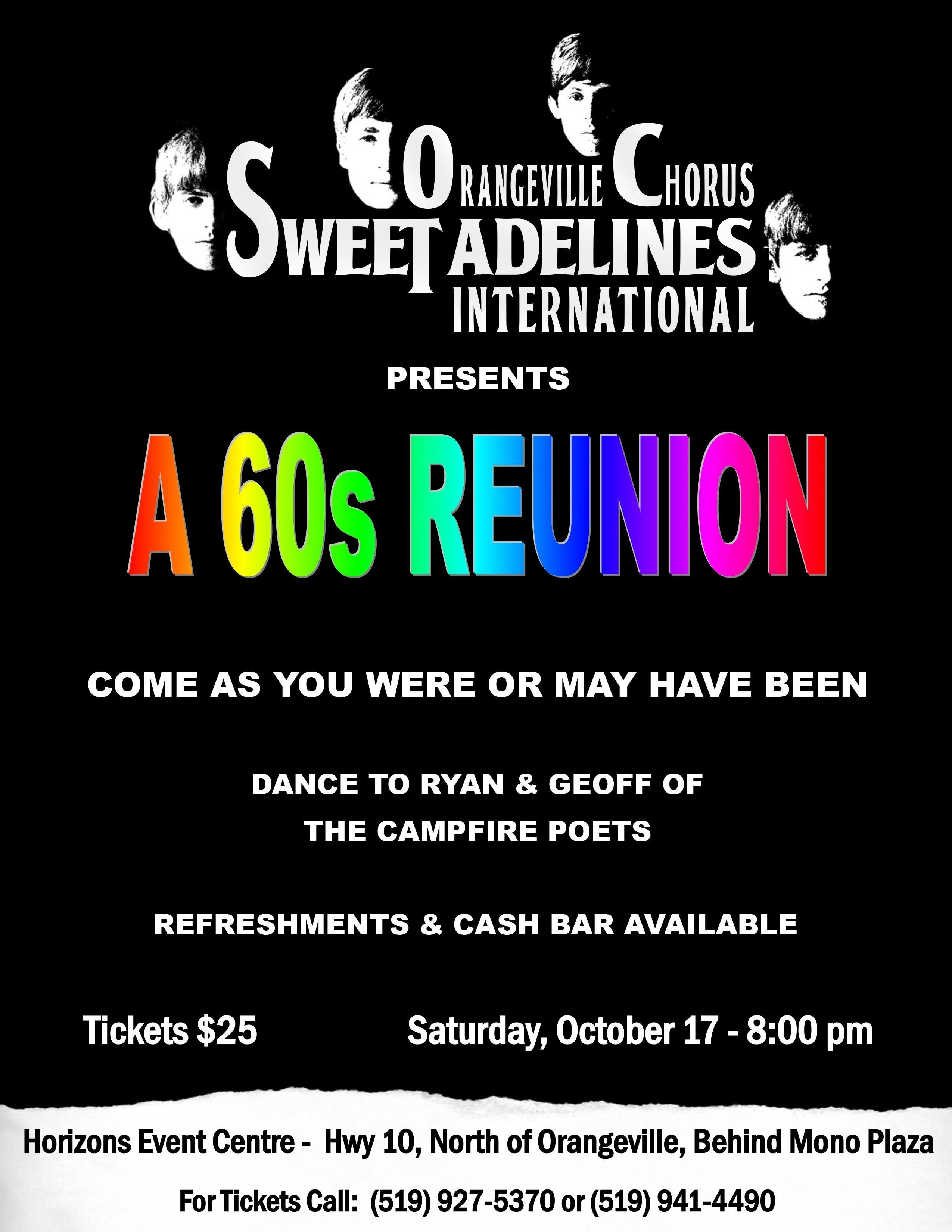 60s Show & Dance - October 17, 2015