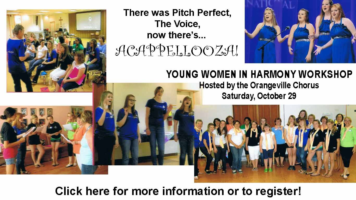 Acappellooza Young Women in Harmony Workshop - Oct 29